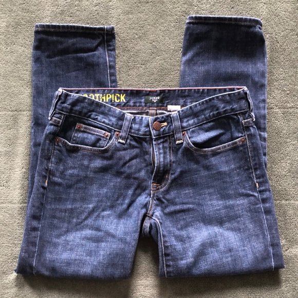 J Crew 27. Toothpick capri stretch jeans 25 inseam
